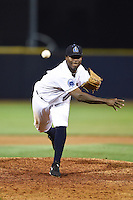 Lake County Captains pitcher Carlos Melo (46) delivers a pitch during a game against the Fort Wayne TinCaps on August 21, 2014 at Classic Park in Eastlake, Ohio.  Lake County defeated Fort Wayne 7-8.  (Mike Janes/Four Seam Images)