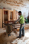 HURGHADA - EGYPT - 03 March 2015 -- Mahmoud working in carpenter workshop. -- Photo: Kimmo HAGMAN / EUP-IMAGES