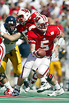 University of Wisconsin quarterback (5) Brooks Bollinger during the  West Virginia University game at Camp Randall Stadium in Madison, WI, on 9/7/02. The Badgers beat West Virginia 34-17.  (Photo by David Stluka)
