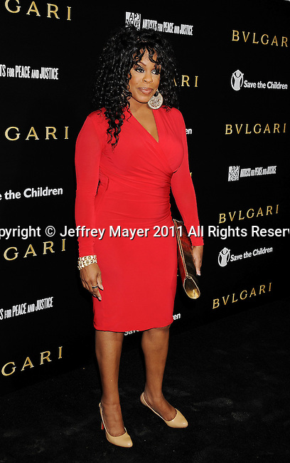 LOS ANGELES, CA - January 13: Niecy Nash attends Save The Children's U.S. Programs And Artists For Peace And Justice Hosted By Bulgari at Ron Burkle's Green Acres Estate on January 13, 2011 in Beverly Hills, California.