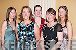 NIGHT OFF: A night off for some of the staff members of Killarney Aghadoe Heights Hotel on Saturday at Ballygarry House, Tralee. L-R: Laura Mannix, Maria Talbot, Eileen Sullivan, Betty Healy and Lisa Fearon.