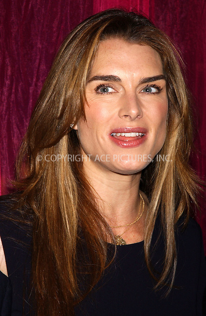 WWW.ACEPIXS.COM . . . . . ....NEW YORK, MAY 11, 2005....Brooke Shields at the Copacabana as the Nation Down Syndrome Society honors Brooke Shields and Patricia Moody at their annual spring luncheon and boutique.....Please byline: KRISTIN CALLAHAN - ACE PICTURES.. . . . . . ..Ace Pictures, Inc:  ..Craig Ashby (212) 243-8787..e-mail: picturedesk@acepixs.com..web: http://www.acepixs.com