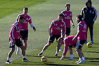 Toni Kroos, Jesse, Nacho, Illarramendi, Sergio Ramos and Carvajal  during a sesion training at Real Madrid City in Madrid. January 23, 2015. (ALTERPHOTOS/Caro Marin) /NortePhoto<br />