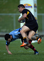 Action from the 2017 National Police Rugby Tournament rugby union match between Wellington and Barbarians at Rotorua International Stadium in Rotorua, New Zealand on Friday, 1 September 2017. Photo: Dave Lintott / lintottphoto.co.nz