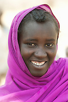 Portrait of a woman from the Nuba tribe in Nyaro village, Kordofan region, Sudan