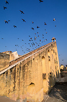 INDIA Rajasthan Jaipur, The Jantar Mantar, historical Observatory of Maharaja Jai Singh II, built between 1727 and 1734, UNESCO world heritage, Observation deck of the samrat yantra, Giant sundial / INDIEN Rajasthan Jaipur, Jantar Mantar, historische Sternwarte des Maharaja Jai Singh II, UNESCO Welterbe