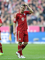 FUSSBALL   1. BUNDESLIGA  SAISON 2011/2012   11. Spieltag FC Bayern Muenchen - FC Nuernberg        29.10.2011 Bastian Schweinsteiger (FC Bayern Muenchen)