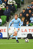 3rd November 2017, Melbourne Rectangular Stadium, Melbourne, Australia; A-League football, Melbourne City FC versus Sydney FC; Nick Fitzgerald of Melbourne City FC looks across the field for a team mate to pass to