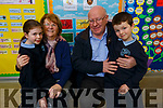 Aoibhinn and Tadgh Brick with grandparents Josephine and Michael Brick at the at the Grandparent day in O'Breannain NS on Tuesday