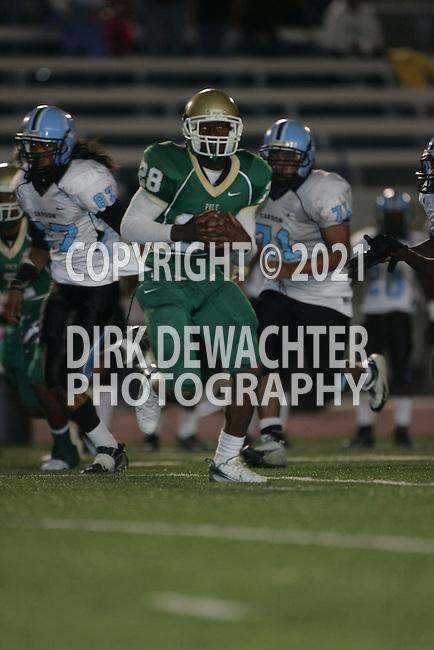 Carson  Colts vs Long Beach Poly (CIF Southern Section).#28 - Cory Westbrook -10th grade - touchdown run 2nd quarter.Veteran Memorial Stadium.Long Beach, California  21 Sept 2007.KN1R6225.JPG.CREDIT: Dirk Dewachter