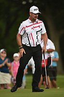 Rory Sabbatini (RSA) sinks his birdie putt on 2 during round 2 of the 2019 Charles Schwab Challenge, Colonial Country Club, Ft. Worth, Texas,  USA. 5/24/2019.<br /> Picture: Golffile   Ken Murray<br /> <br /> All photo usage must carry mandatory copyright credit (© Golffile   Ken Murray)