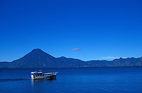 Ferry boat crossing Lake Atitlan, Guatemala