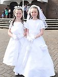 Amy Doyle and Meghan McCabe who received First Holy Communion in the Church of the Nativity Ardee. Photo:Colin Bell/pressphotos.ie