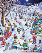 Randy, CHRISTMAS CHILDREN, WEIHNACHTEN KINDER, NAVIDAD NIÑOS, paintings+++++Ski-Adventure-RW-sm,USRW329,#xk#