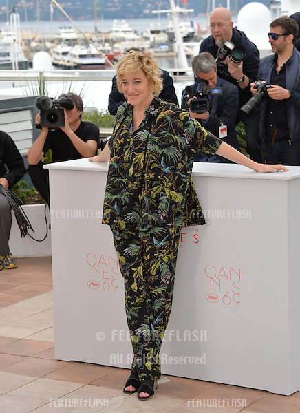 Actress Valeria Bruni Tedeschi at the photocall for &quot;Slack Bay&quot; (&quot;Ma Loute&quot;) at the 69th Festival de Cannes.<br /> May 13, 2016  Cannes, France<br /> Picture: Paul Smith / Featureflash