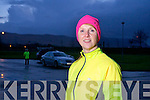 Launa White, first time in the Kerry's Eye Tralee International Marathon, out training on Tuesday night