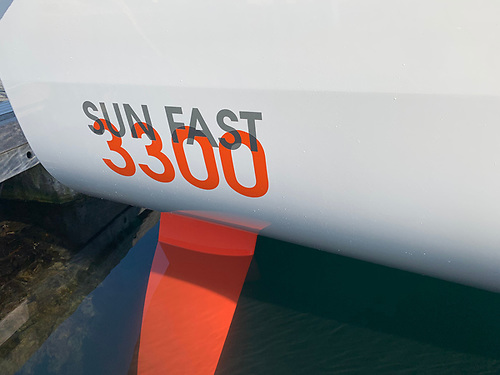 The Sunfast 3300 has twin rudders Photo: Afloat