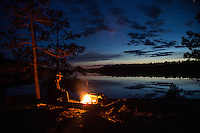 """Spring Campfire on Basswood Lake""<br />