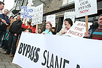 Protesting for the Slane Bypass as Brian Cohen Visits
