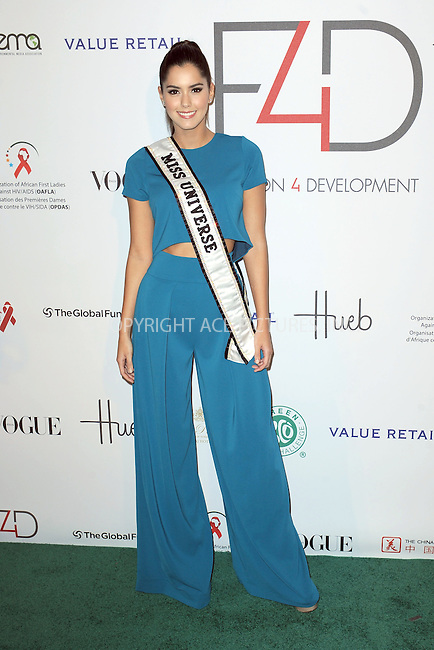 WWW.ACEPIXS.COM<br /> September 28, 2015 New York City<br /> <br /> Paulina Vega attending Fashion 4 Development's 5th annual Official First Ladies luncheon at The Pierre Hotel on September 28, 2015 in New York City.<br /> <br /> Credit: Kristin Callahan/ACE Pictures<br /> <br /> Tel: (646) 769 0430<br /> e-mail: info@acepixs.com<br /> web: http://www.acepixs.com