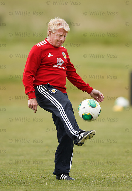 Gordon Strachan on the ball
