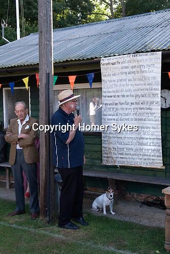 Ebernoe Horn Fair West Sussex UK 2015. Singing of the Horn Fair Song.