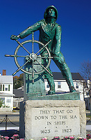 Gloucester, Massachusetts, MA, Fisherman's Monument along Stacy Boulevard in Gloucester in the fall.
