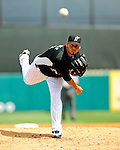 16 March 2009: Florida Marlins' pitcher Anibal Sanchez in action during a Spring Training game against the Washington Nationals at Roger Dean Stadium in Jupiter, Florida. The Nationals defeated the Marlins 3-1 in the Grapefruit League matchup. Mandatory Photo Credit: Ed Wolfstein Photo