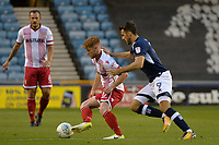 Stevenage's Dale Gorman with Millwalls Lee Gregory during Millwall vs Stevenage, Caraboa Cup Football at The Den on 8th August 2017