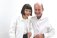 Tati Laskena and Tim Truman attend Samuel Gui Yang's Untitled (Ephemeral Study 1)