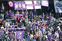 2nd February 2020; Allianz Stadium, Turin, Italy; Serie A Football, Juventus versus Fiorentina; The supporters of Fiorentina shows their colours
