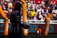 GUADALAJARA,JAL. AUGUST 18, 2013.  Antonio De Nigris of Chivas during the game of Liga MX between Chivas against Puebla at Omnilife Stadium. // Antonio De Nigris de Chivas durante el juego  de La Liga MX entre Chivas vs Atlante  en el Estadio Omnilife. <br /> PHOTOS: NORTEPHOTO/GERMAN QUINTANA**CRÉDITO OBLIGATORIO** **USO EDITORIAL** **NO VENTAS** **NO ARCHIVO**