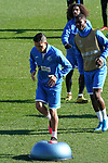 Getafe's Faycal Fajr, Florent Poulolo and Marc Cucurella during training session. February 19,2020.(ALTERPHOTOS/Acero)