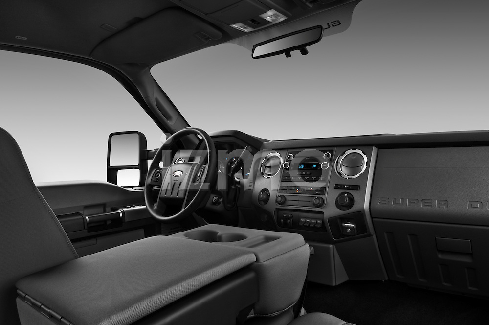 Dashboard view of a 2011 Ford F-250 Crew Cab 4x4