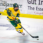 8 February 2020: University of Vermont Catamount Defender Maude Poulin-Labelle, a Sophomore from Sherbrooke, Québec, in third period action against the University of Connecticut Huskies at Gutterson Fieldhouse in Burlington, Vermont. The Huskies defeated the Lady Cats 4-2 in the first game of their weekend Hockey East series. Mandatory Credit: Ed Wolfstein Photo *** RAW (NEF) Image File Available ***