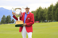 Matthew Fitzpatrick (ENG) wins the tournament after a 3 hole playoff at the  end of Sunday's Final Round of the 2017 Omega European Masters held at Golf Club Crans-Sur-Sierre, Crans Montana, Switzerland. 10th September 2017.<br /> Picture: Eoin Clarke | Golffile<br /> <br /> <br /> All photos usage must carry mandatory copyright credit (&copy; Golffile | Eoin Clarke)