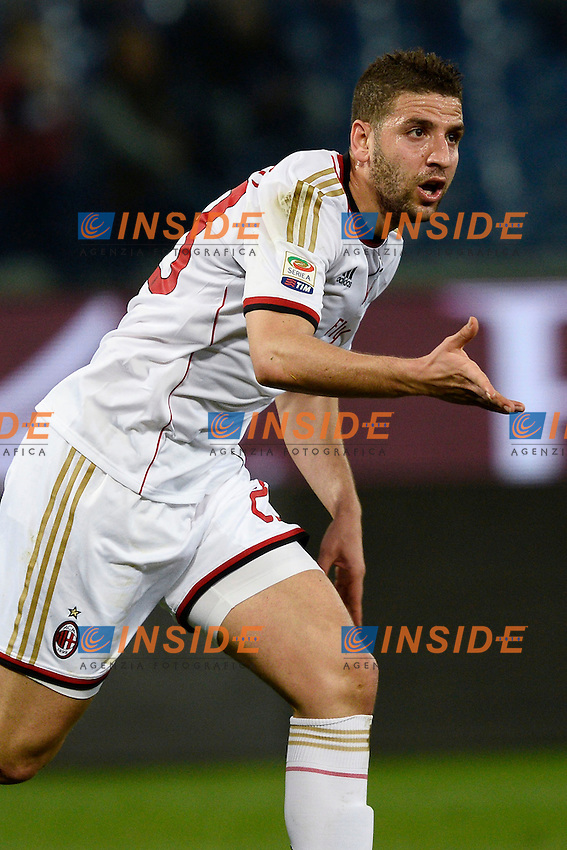 esultanza gol Adel Taarabt Milan. Goal celebration <br /> Genova 07-04-2014 Stadio Marassi - Football Calcio 2013/2014 Serie A, Genoa - Milan <br /> foto Daniele Buffa/Image Sport/Insidefoto