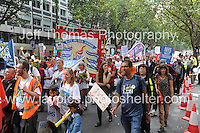 Peoples March for the NHS - Central London, Saturday 6th Sept 2014 - <br /> <br /> <br /> <br /> <br /> Photographer: Jeff Thomas - Jeff Thomas Photography - 07837 386244/07837 216676 - www.jaypics.photoshelter.com - swansea1001@hotmail.co.uk
