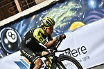 Esteban Chaves (COL) Mitchelton-Scott recons the course before Stage 21 the final stage of the 2019 Giro d'Italia, an individual time trial running 17km from Verona to Verona, Italy. 2nd June 2019<br /> Picture: Fabio Ferrari/LaPresse | Cyclefile<br /> <br /> All photos usage must carry mandatory copyright credit (© Cyclefile | Fabio Ferrari/LaPresse)