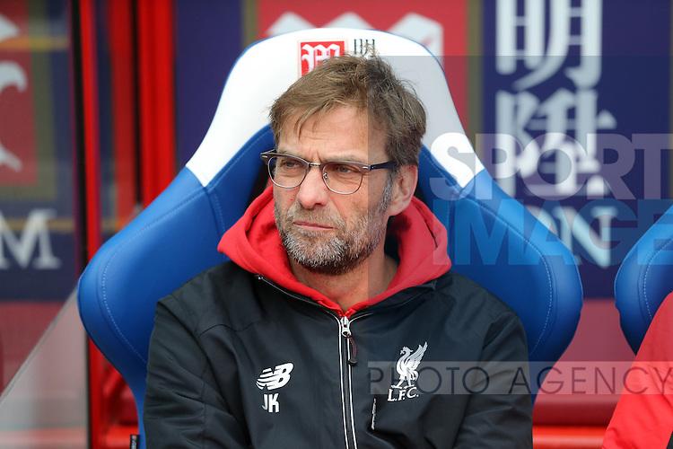 Liverpool's Jurgen Klopp looks on<br /> <br /> - English Premier League - Crystal Palace vs Liverpool  - Selhurst Park - London - England - 6th March 2016 - Pic David Klein/Sportimage
