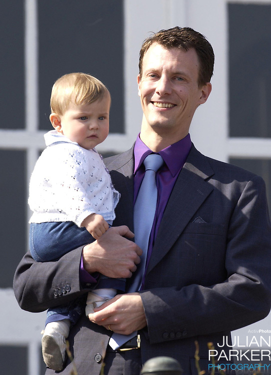 Queen Margrethe II of Denmark celebrates her 63rd Birthday at Marselisborg Castle in Aarhus, Denmark, accompanied by Prince Henrik, Crown Prince Frederik, and Prince Joachim, Princess Alexandra, and their children  Prince Nikolai, and Prince Felix...