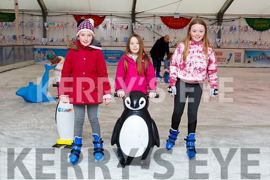 Tara and Niamh Bowler Kilcummin and Laura Power Firies  Skating at the Killarney on Ice Skating ring on Saturday