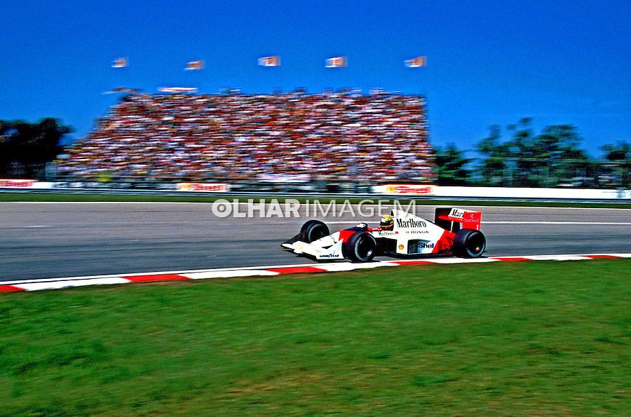 Grande Prêmio de Fórmula 1 em Jacarepaguá. Rio de Janeiro. 1989. Foto de Juca Martins.