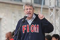 Maurizio Landini<br /> Milano 14-11-2014 manifestazione per sciopero generale Fiom Cgil <br /> General strike Demonstration against the government's economic policy in Milano <br /> foto Andrea Ninni/Image/Insidefoto