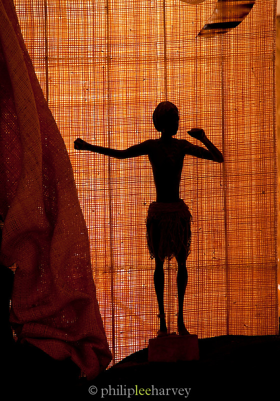 African statue at a hotel in Andasibe-Mantadia National Park, Madagascar