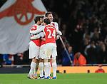 Arsenal's Olivier Giroud celebrates scoring his sides second goal<br /> <br /> Barclays Premier League- Arsenal vs Manchester City - Emirates Stadium - England - 21st December 2015 - Picture David Klein/Sportimage