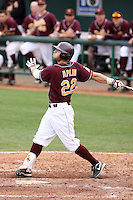 Andrew Aplin, Arizona State Sun Devils - Annual Alumni game at Packard Stadium, Tempe, AZ - 02/06/2010..Photo by:  Bill Mitchell/Four Seam Images.