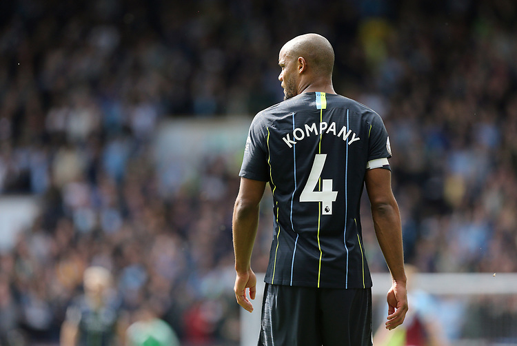 Manchester City's Vincent Kompany<br /> <br /> Photographer Rich Linley/CameraSport<br /> <br /> The Premier League - Burnley v Manchester City - Sunday 28th April 2019 - Turf Moor - Burnley<br /> <br /> World Copyright © 2019 CameraSport. All rights reserved. 43 Linden Ave. Countesthorpe. Leicester. England. LE8 5PG - Tel: +44 (0) 116 277 4147 - admin@camerasport.com - www.camerasport.com