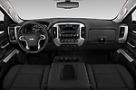 Stock photo of straight dashboard view of 2019 Chevrolet Silverado-2500 LT 4 Door Pick-up Dashboard