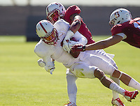 STANFORD, CA - MARCH 7, 2014--Stanford's Michael Rector, during Open Football Practices at Stanford University.